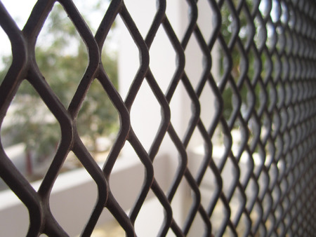 penal system: close up of net fence
