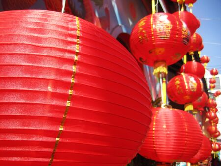 chinese paper lantern in chinese new year festival photo