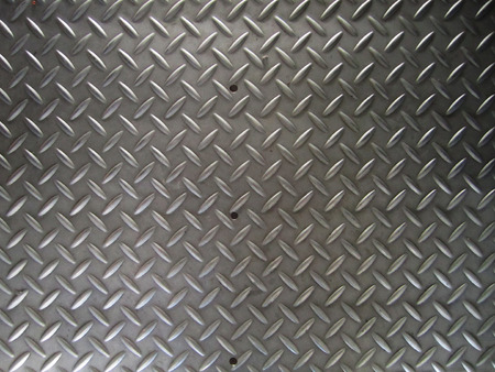 brushed steel: a diamond plate bumped metal texture
