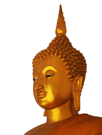 revere: a golden buddha statue isolated on white background