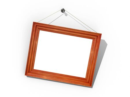 3d render of photo frame. Isolated.