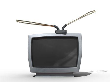 Old tv in cartoon style. Isolated. Stock Photo - 3667376