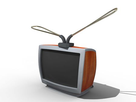Old tv in cartoon style. Isolated. Stock Photo - 3667377