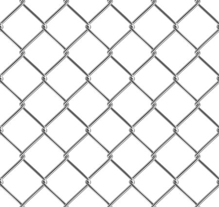 Metallic fence. Seamless texture. Isolated. Stock Photo
