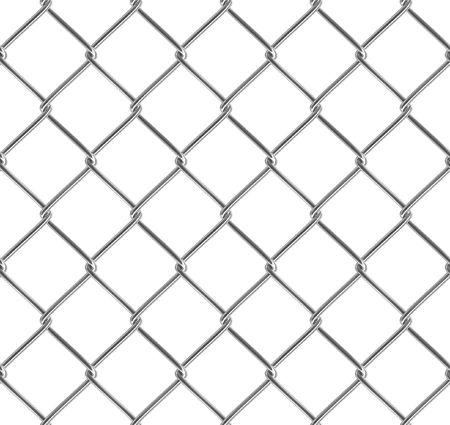 Metallic fence. Seamless texture. Isolated. Stock Photo - 3733258