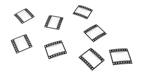 Isolated three-dimensional photographic film on white background. Stock Photo - 3797266