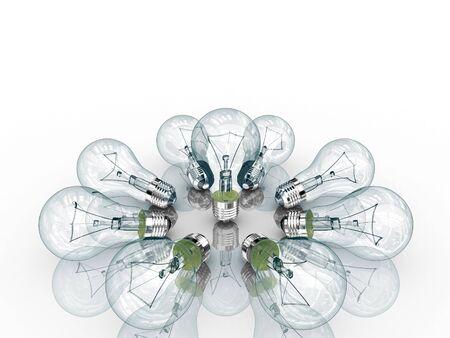 Light bulbs. Isolated on white. Stock Photo