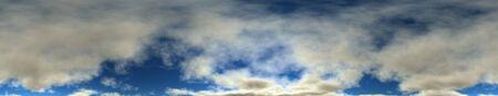 Computer generated panoramic cloudy sky. Seamless. photo