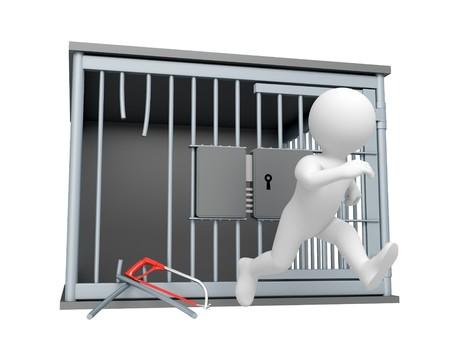 preso: Agotado preso de la c�rcel Foto de archivo