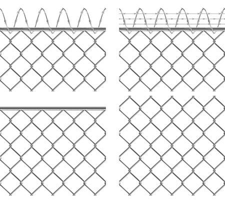 Metallic fence. Set of seamless textures. Isolated. Stock Photo - 5521298