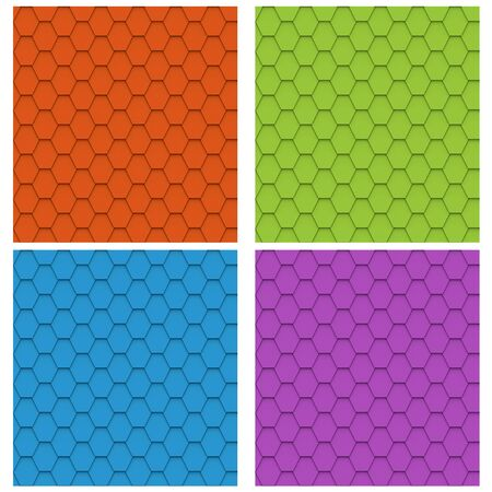 Set of color seamless roof tiles. Stock Photo