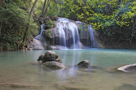 erawan: Erawan Waterfall, Erawan National Park in Kanchanaburi, Thailand