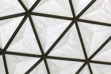 fiberglass: geodesic fiberglass dome roof structure, texture and background