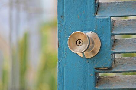 door knob: Metal  Door Knob Stock Photo
