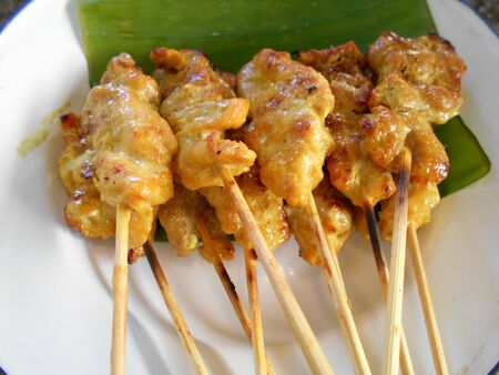 popular: Pork Satay, popular Thai-Chinese food