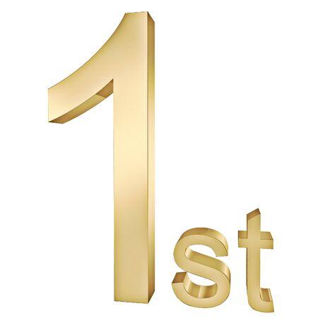 Gold ersten Anzeichen Standard-Bild - 8984293