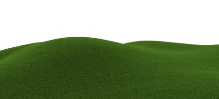 Green grassy hill photo