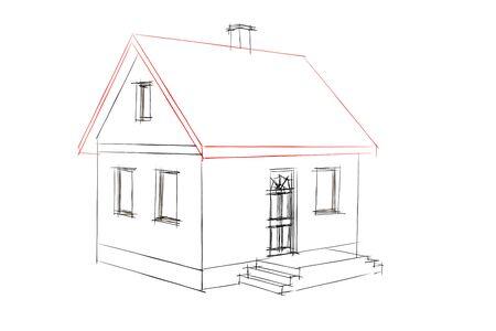 Haus-plan Standard-Bild - 8984298