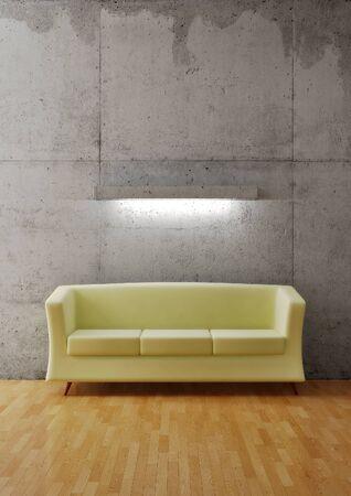 Leeren Raum mit sofa Standard-Bild - 8984308