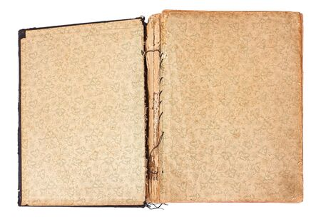 ancient bible, blank page with pattern photo