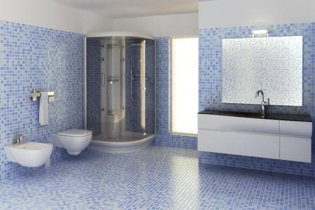computer generated 3d bathroom interior