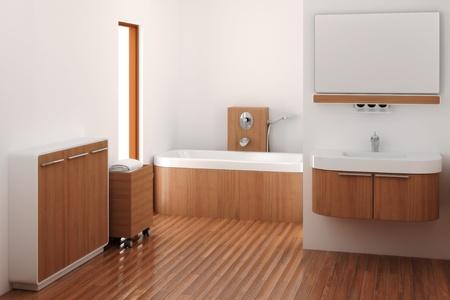 bathroom tiles: computer generato 3d bagno interno