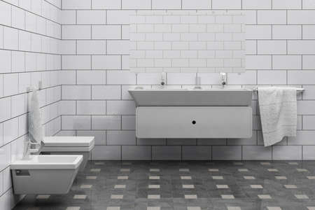 computer generated 3d cheap bathroom interior