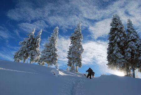 hiking Standard-Bild