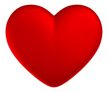 red heart Standard-Bild