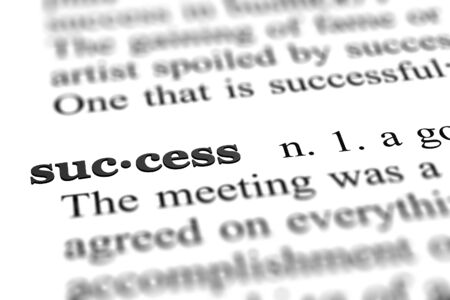 success word from dictionary Stock Photo - 9751845