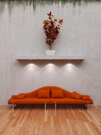 Innenraum mit Sofa Standard-Bild - 10370024