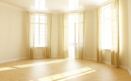 ventana abierta interior: habitaci�n vac�a