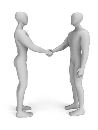 3d people that make a deal photo