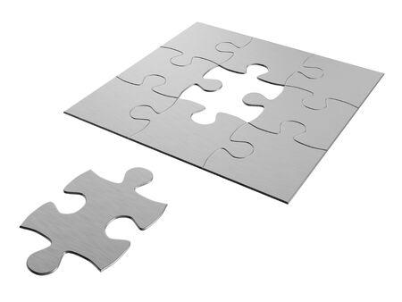 wanting jigsaw puzzle piece Standard-Bild