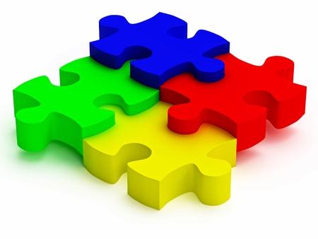 rgb color jigsaw puzzle pieces