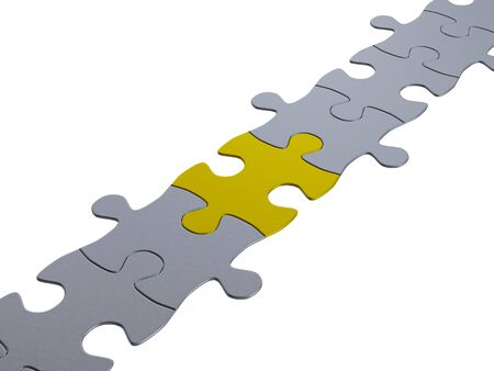 jigsaw puzzle chain photo
