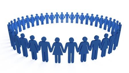 human circle Stock Photo