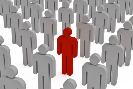 stand out from the crowd Standard-Bild