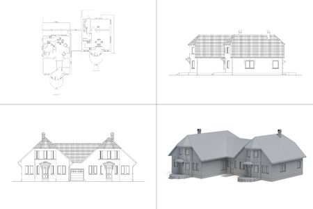 house blueprint Stock Photo - 14448812