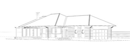 residential home: house blueprint