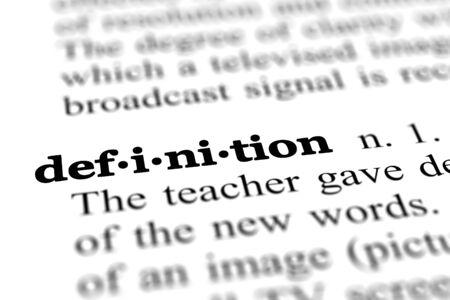 definitie woord van een gratis woordenboek Stockfoto
