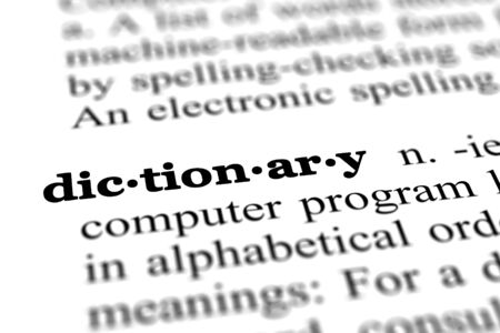 language dictionary: dictionary word from a free dictionary Stock Photo
