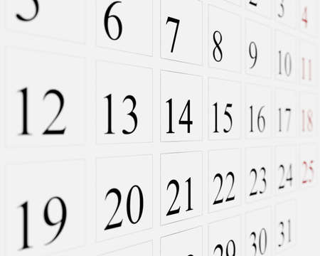 three angled: Days on calendar