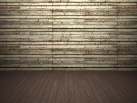 Wooden wall and floor Standard-Bild