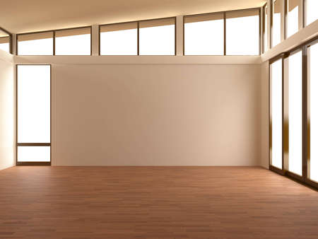 Empty room in a modern room Stock Photo