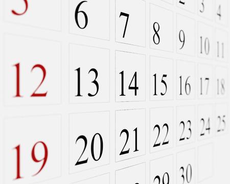 days: Days on calendar
