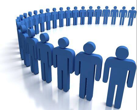 3d people in a big circle Standard-Bild