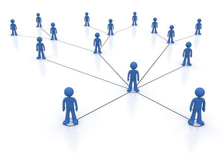Image concept représentant le réseau, la mise en réseau, la connexion, les réseaux sociaux, les communications