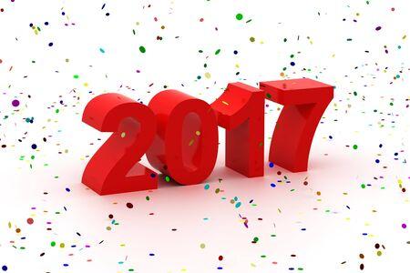 Guten Rutsch ins neue Jahr 2017 Standard-Bild - 69756582