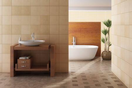 Including Brown bath, bathroom sink and plant